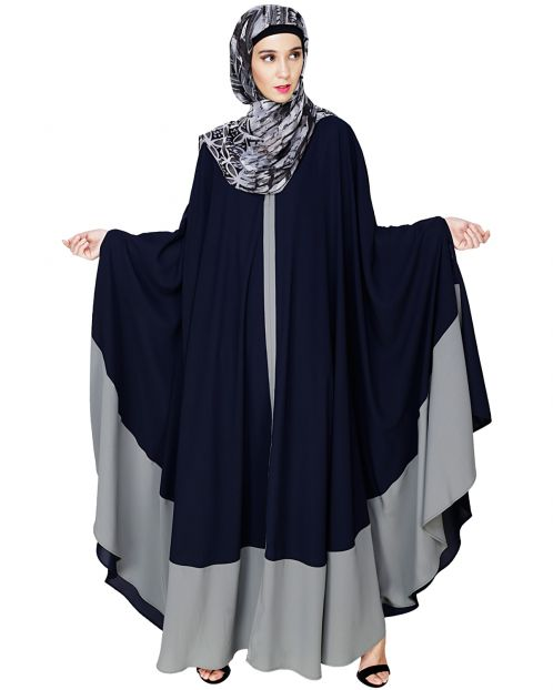 Colour Block Blue Irani Kaftan
