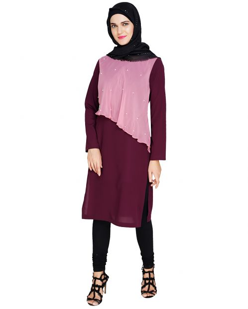 Purple Layered Kurta