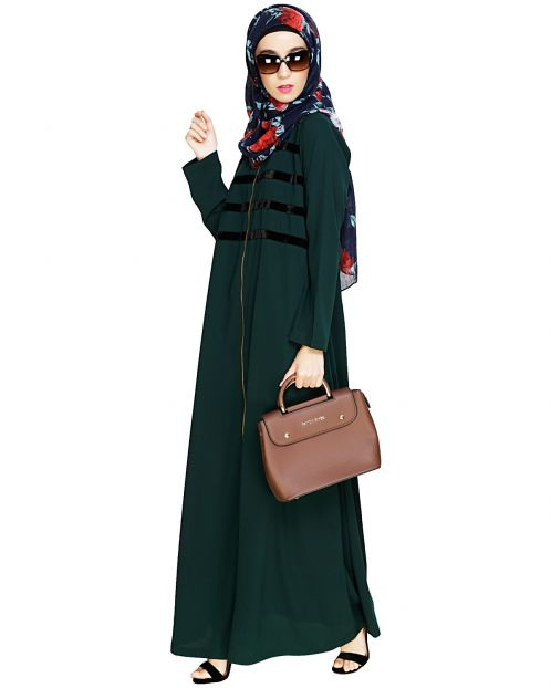 Enticing Stripes Green Abaya