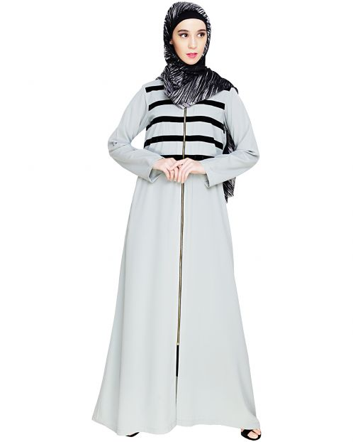 Enticing Stripes Sage Green Abaya