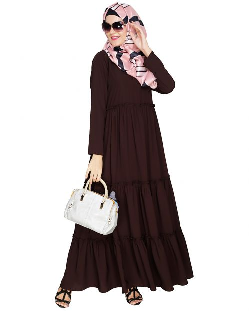 Modest Brown Abaya