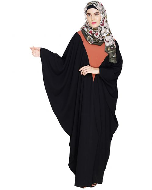 Colour Blocked Black Kaftan