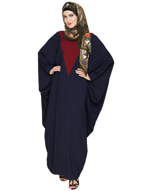 Colour Blocked Blue Kaftan