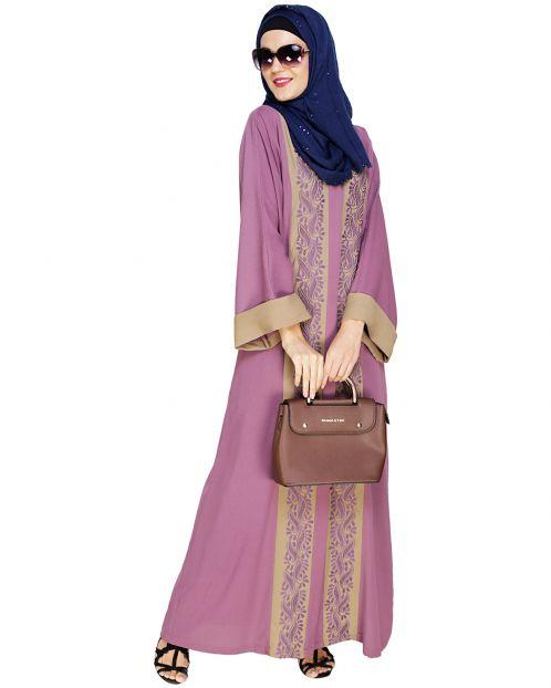 Exquisite Dubai Style Mauve Abaya