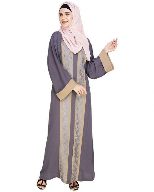 Exquisite Dubai Style Grey Abaya