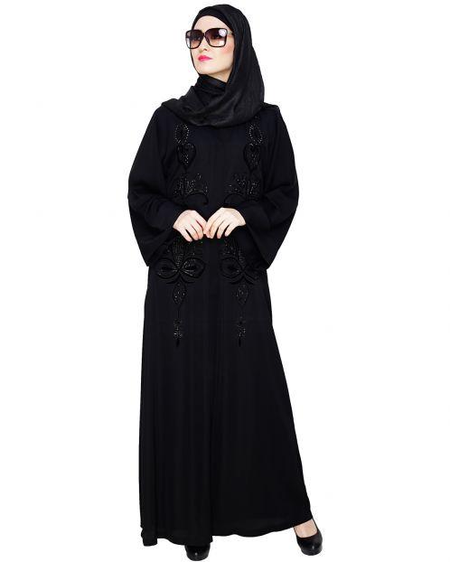 Glitzy Black Dubai Style Abaya
