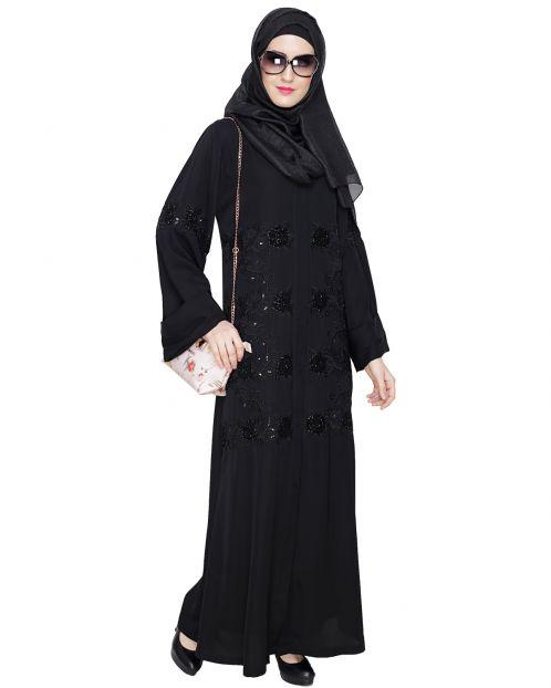 Lavish Black Dubai Style Abaya