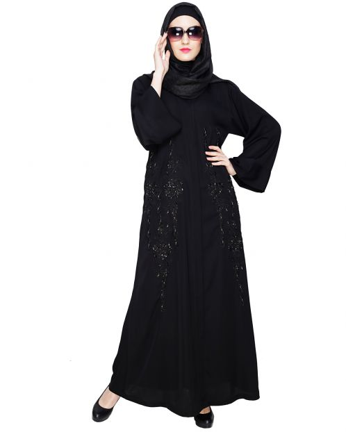 Magnificient Black Dubai Style Abaya