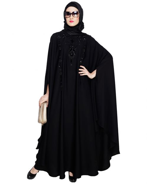 Majestic Black Irani Kaftan