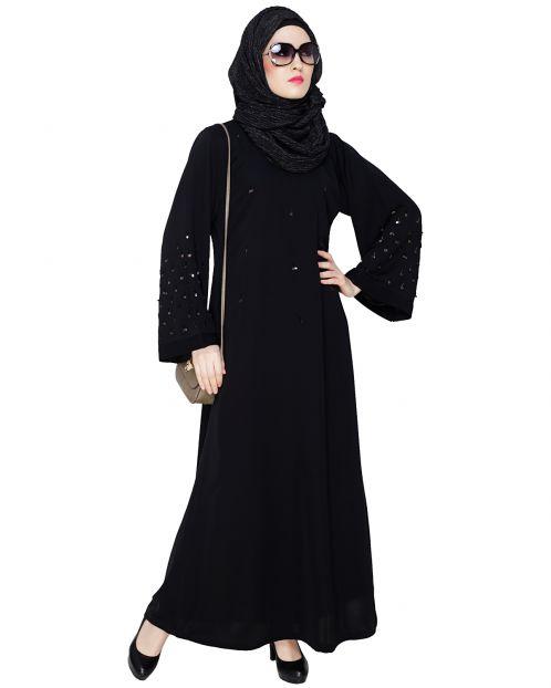 Enchanting Black Dubai Style Abaya