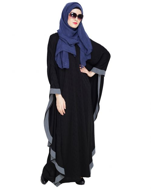 Black Modish Colourblock Kaftan