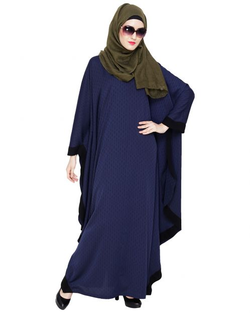 Blue Modish Colourblock Kaftan