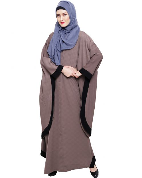Umber Brown Modish Colourblock Kaftan