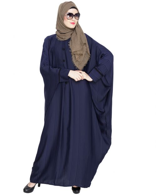 Graceful Pleated Blue Kaftan