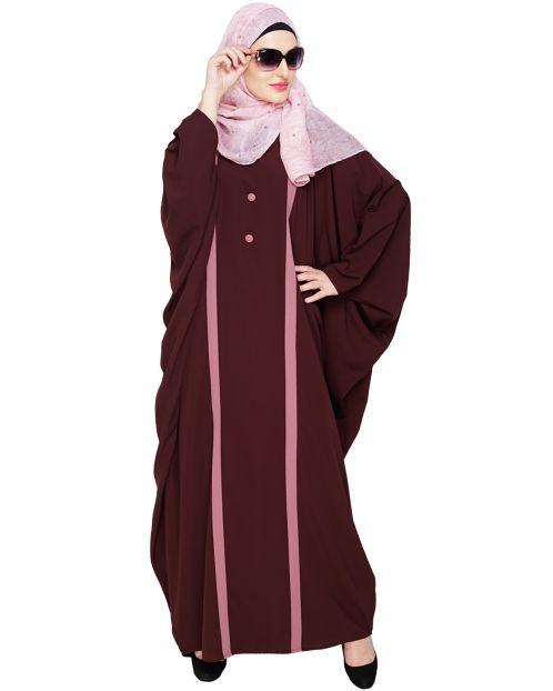 Colourblock Brown Kaftan