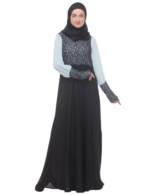 Classic Black Evening Wear Abaya
