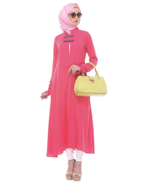 Front Open Pink Tunic