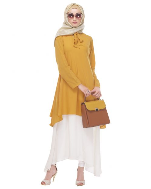 Chrome Yellow Layered Tunic