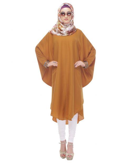 Kaftan-Style Brown Tunic
