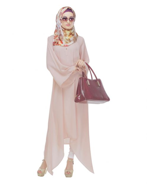 Baby Pink Asymmetrical Tunic