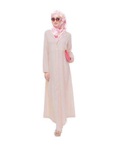 Baby Pink Lapeled Abaya