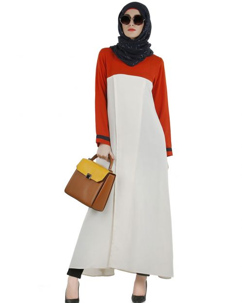 Stylish Color blocked  wrap tunic