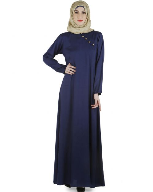 Indigo trendy abaya dress