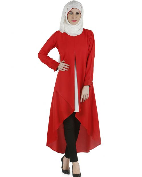 Layered long tunic