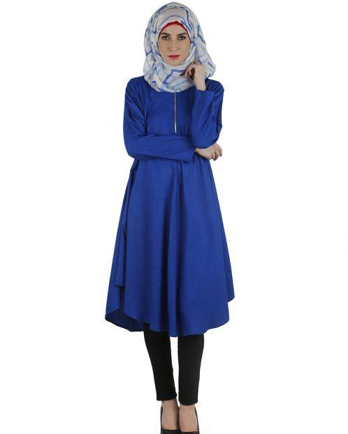 Flared royal blue tunic