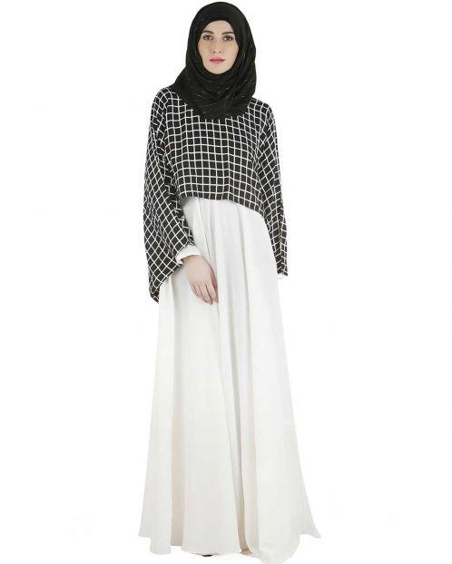 Checkered crop top maxi dress