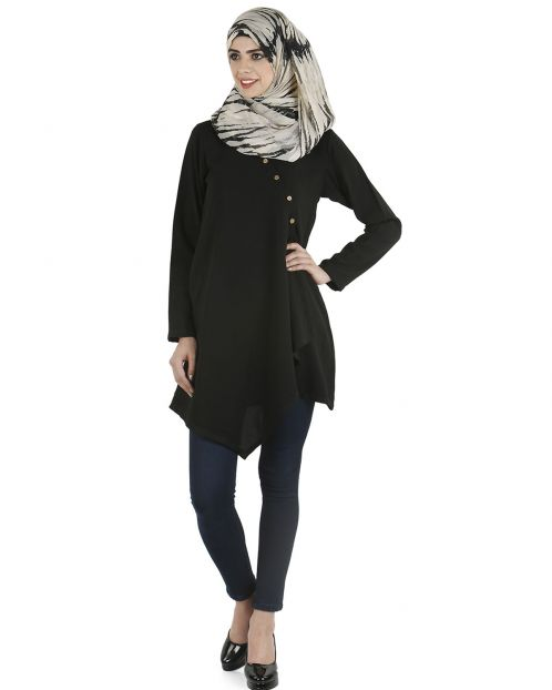 Black Stylish short tunic