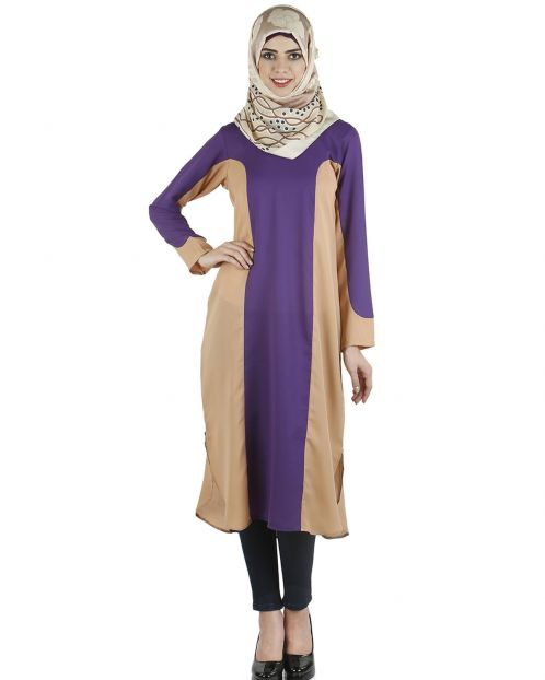 Accented colors, tunic dress