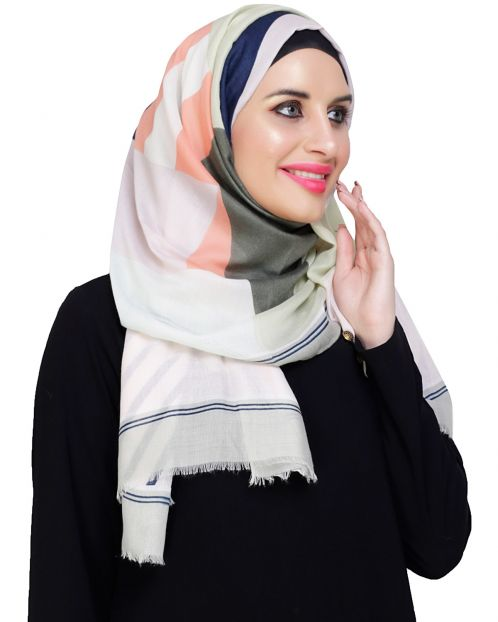 Edgy Multicolour Abstract Print Hijab