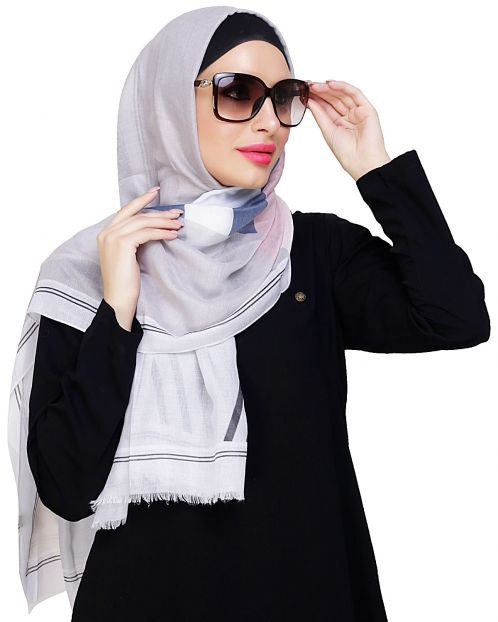 Edgy Multicoloured Abstract Print Hijab
