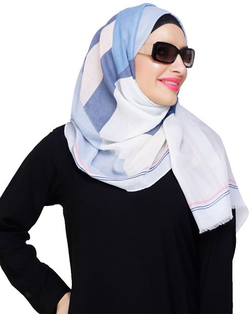 Edgy Multicolored Abstract Print Hijab