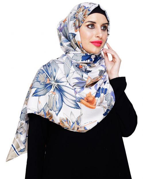 Summery Sage Green Floral Hijab