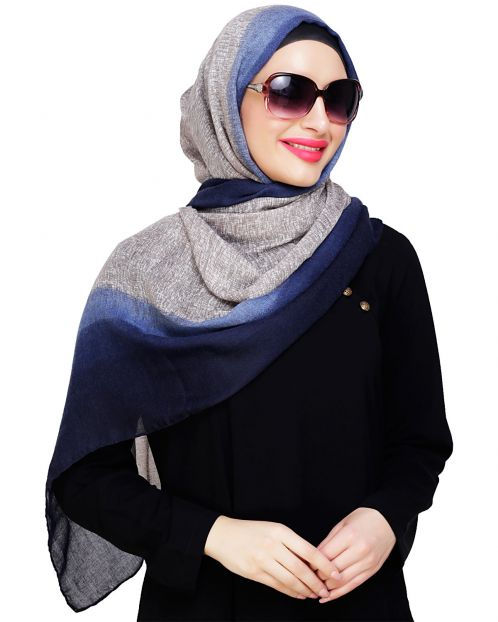 Blue Ombre Printed Hijab