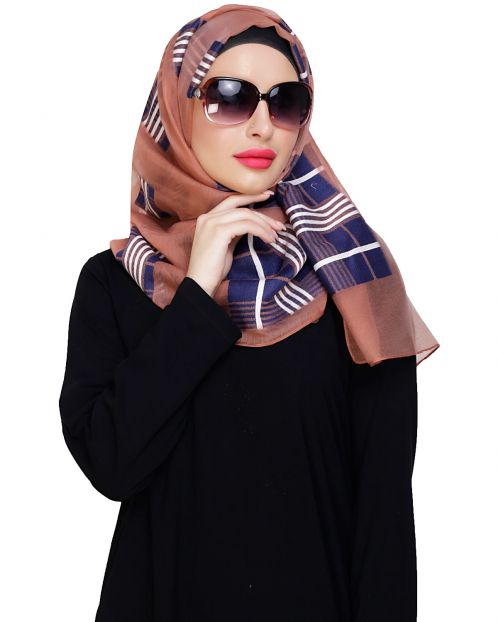 Organza Weaved Brick Red Hijab