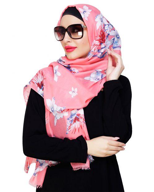 Summer Elegance Floral Pink Hijab