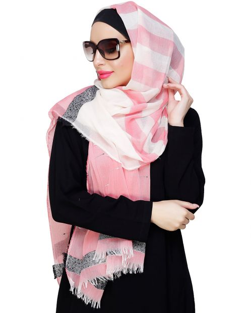 Pretty Pink Shimmer Hijab