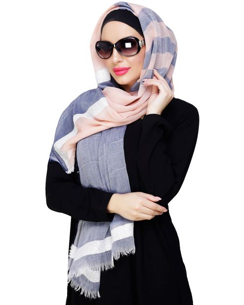 Pretty Peach Shimmer Hijab