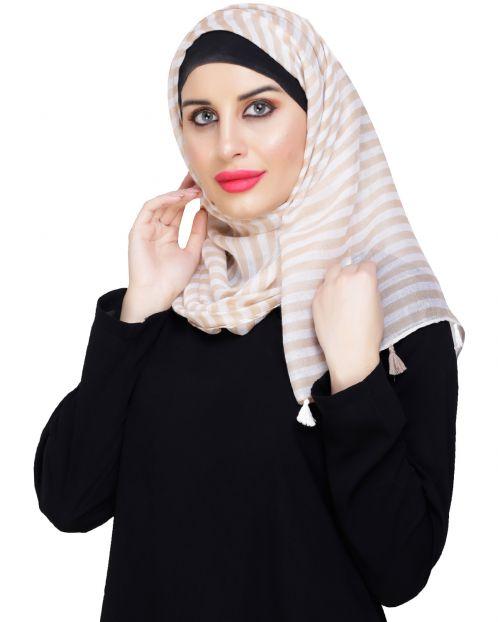 Funky Tassel Beige Hijab
