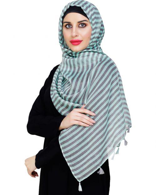 Funky Tassel Green Hijab