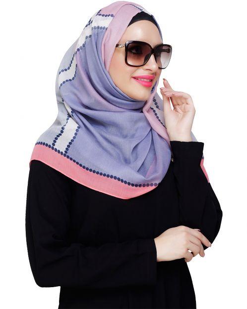 Fancy colourblock Peach Hijab