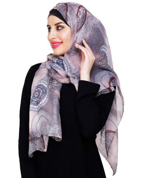 Mandala Printed Lavender Hijab
