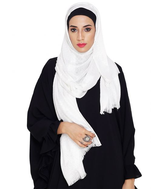 Diva White Shimmer Hijab