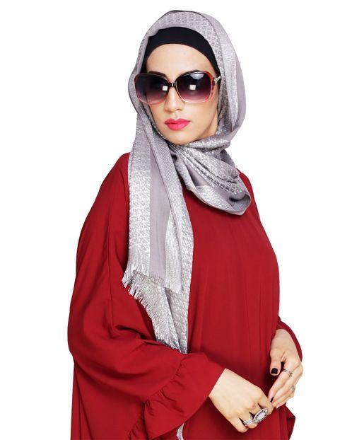 Diva Grey Shimmer Hijab