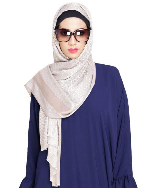 Diva Beige Shimmer Hijab