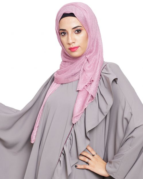 Onion Crinkled Glitter Hijab