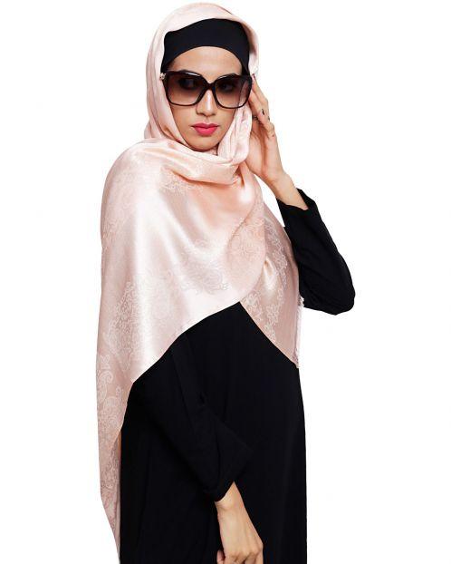 Pretty Peachy Shimmer Hijab